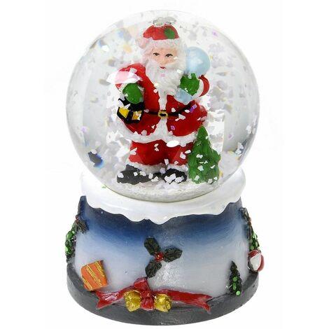 Boule Decoration.Boule à Neige Lumineuse Avec Paillettes Décoration De Noël