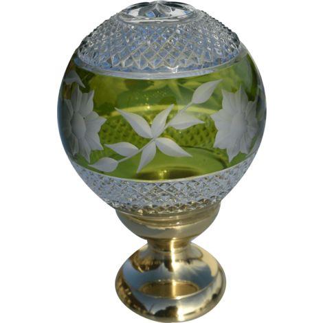 Boule de rampe cristal vert Amazone