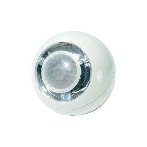 Boule LED avec détecteur de mouvements blanche S48435
