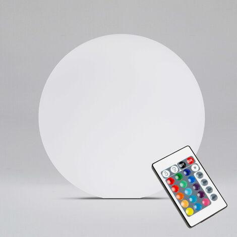 Boule LED d'extérieur rechargeable multicolore Ø40cm Shine - Multicolore