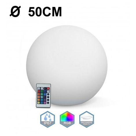 """main image of """"Boule LED Lumineuse Multicolore Ø 30 40 50 60"""""""