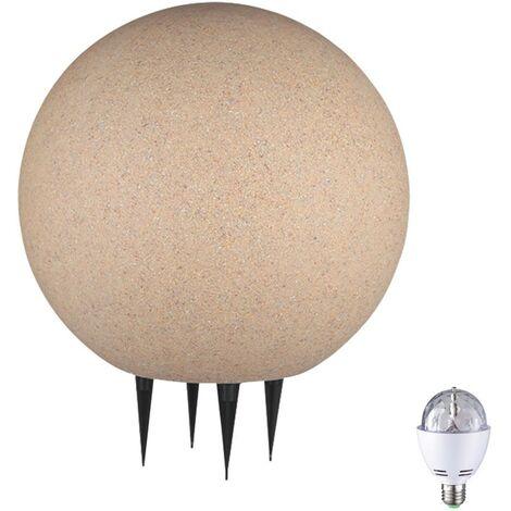 Boule lumineuse DEL RVB lampe éclairage décoration espace extérieur pierre jardin terrasse
