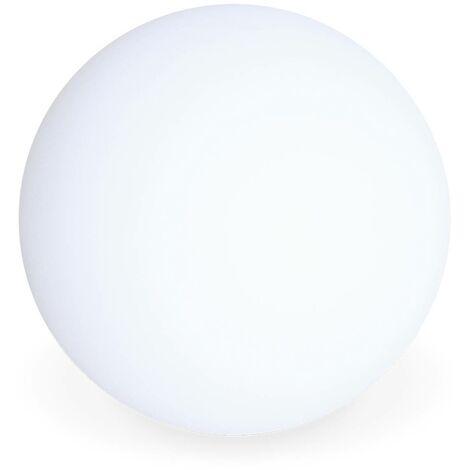 Boule lumineuse LED ⌀ 30 cm 16 couleurs, étanche , recharge sans fil avec télécommande