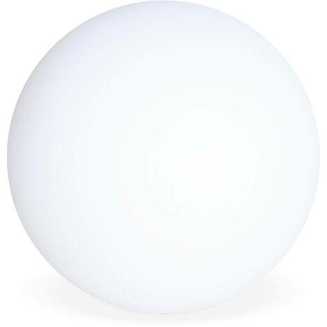 Boule lumineuse LED ⌀ 50 cm 16 couleurs, étanche, recharge sans fil avec télécommande