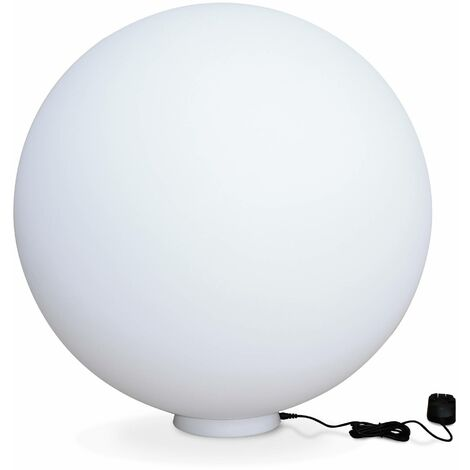 Boule lumineuse LED ⌀ 60cm 16 couleurs, étanche, recharge sans fil avec télécommande