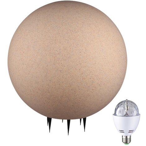 Boule lumineuse LED RVB disco lampe extérieure DEL jardin éclairage IP65 sable
