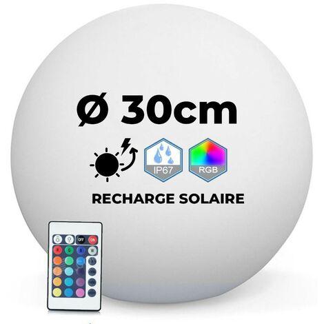 Boule Lumineuse LED Solaire Multicolore 30CM