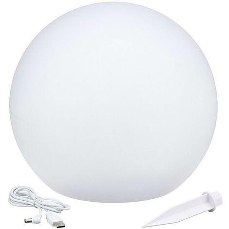 """main image of """"Boule lumineuse solaire flottante à piquer ou à poser LED blanc/multicolore SOLSTY Ø 30 cm"""""""