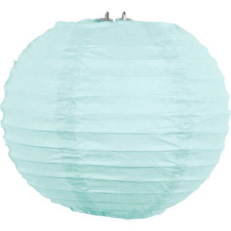 SKYLANTERN Boule Papier Turquoise 30 cm x3