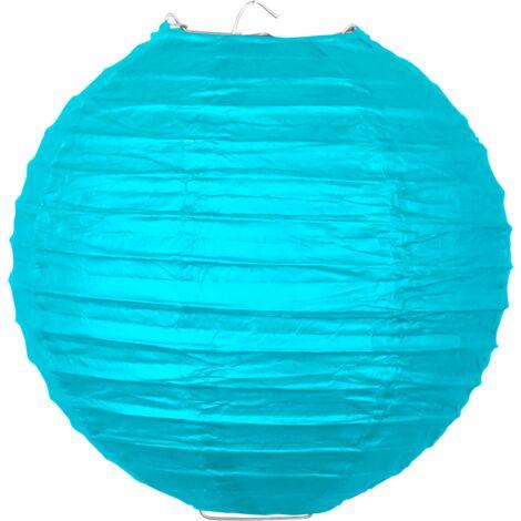 Boule papier 20 cm Turquoise - Bleu Turquoise