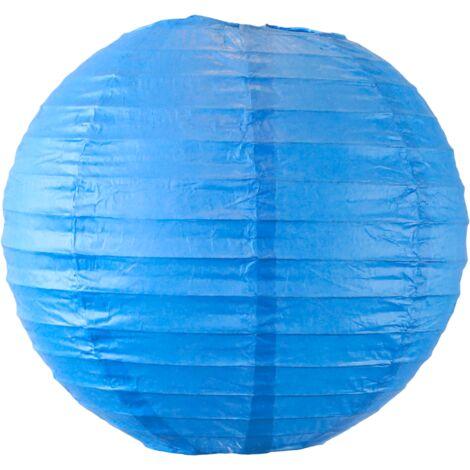 Boule papier 20cm Bleu roi - Bleu Roi