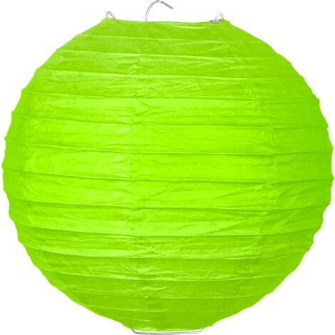 Boule papier 20cm Vert - Vert Anis