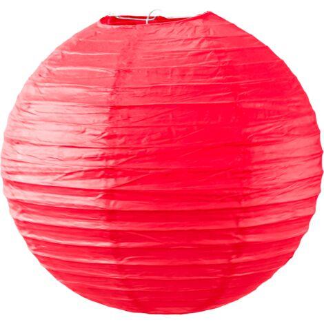 Boule papier 30cm Rouge