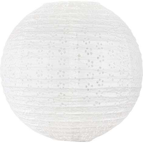 """main image of """"Boule Papier 35cm Ajourée Blanc - Blanc"""""""
