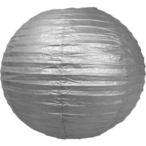 Boule papier 35cm Argent