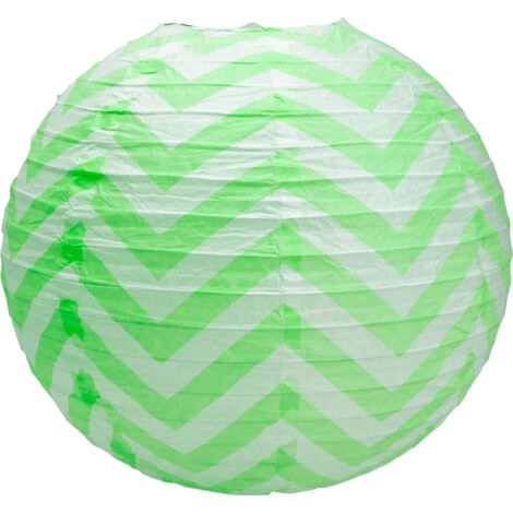Boule papier 35cm Chevron Vert - Vert Anis