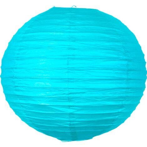 Boule papier 40 cm Turquoise - Bleu Turquoise