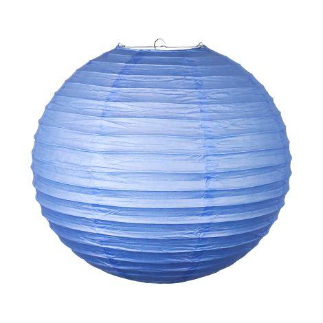 Boule Papier 40cm Bleu Lavande