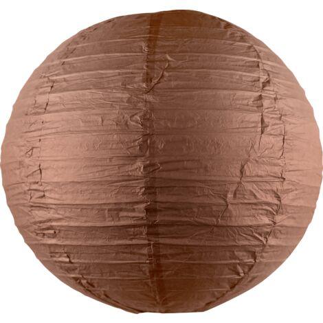 Boule papier 40cm Chocolat - Chocolat