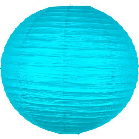 Boule papier 50 cm Turquoise - Bleu Turquoise
