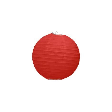 Boule Papier Rouge 10 cm x3 - Rouge