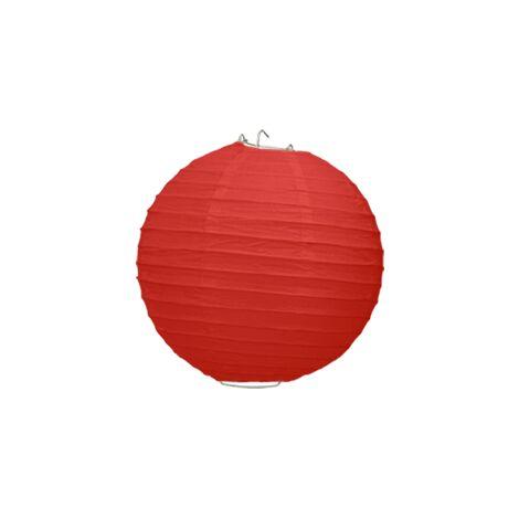 Boule Papier Rouge 20 cm x3 - Rouge