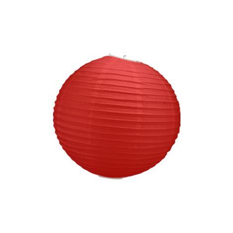 Boule Papier Rouge 30 cm x10 - Rouge