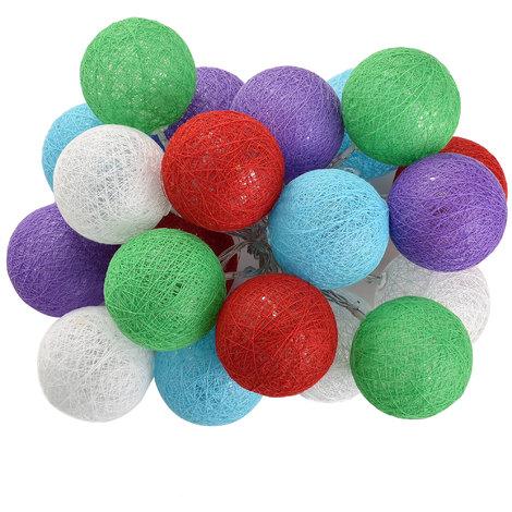 boules à 20 LED guirlande à boules guirlande de Noël guirlande à boules illumination déco guirlande multicolore