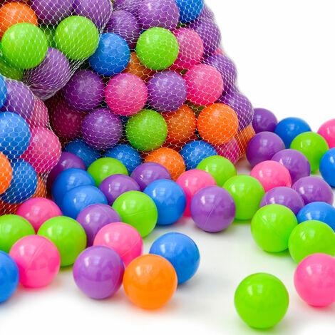 Boules colorées 6cm couleurs pastel 100