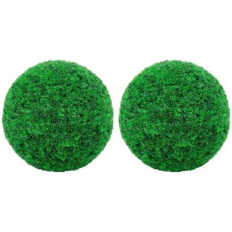 Boules de buis artificielles 2 pcs 52 cm