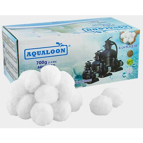 Boules filtrantes aqualoon pour filtre à sable piscine 8-10 m³/h 3 cartons de 700g