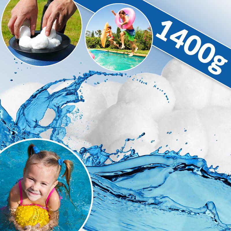 Boules filtrantes piscine pour système de filtration à sable 1400g lavable