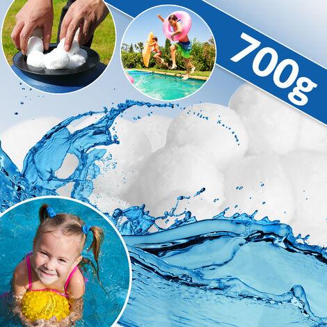 Boules filtrantes piscine pour système de filtration à sable 700g lavable propre balle filtrante recyclable piscine pompe filtre à sable