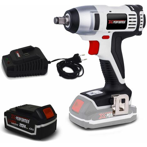 Boulonneuse à batterie 20V X-Performer XPIW20LI - Lampe LED - Couple: 180Nm + Batterie 4 Ah et chargeur inclus