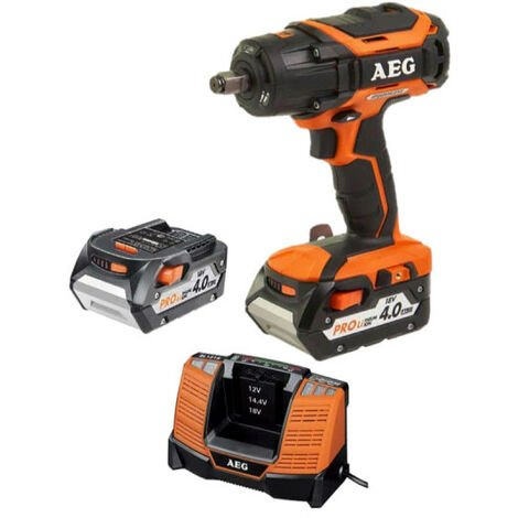 Boulonneuse brushless AEG 18V BSS 18C12ZBL-402C - 2 batteries 4,0Ah - 1 chargeur