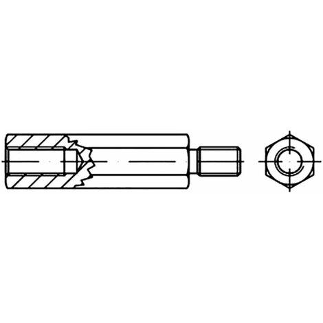 Boulons décartement six pans TOOLCRAFT 149942 Acier galvanisé M3