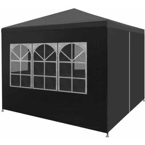 """main image of """"Bourdeau 3m x 3m Steel Party Tent by Dakota Fields - Anthracite"""""""
