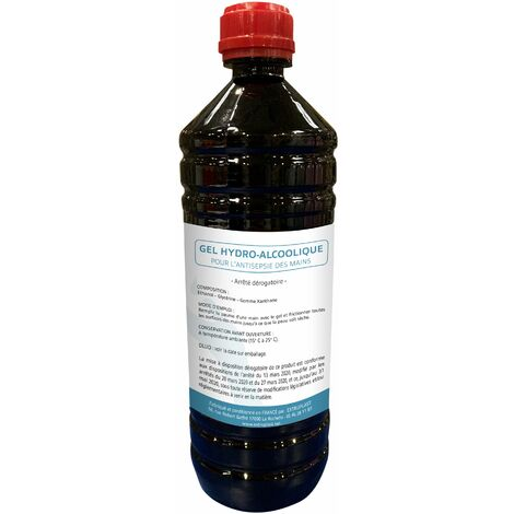 Bouteille de 1 L de gel hydro-alcoolique antiseptique XP-11279 - -