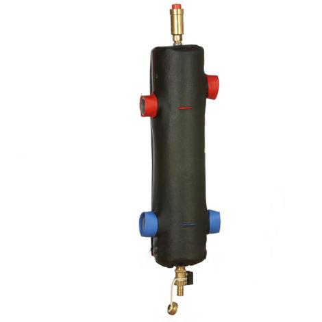 """Bouteille de découplage hydraulique + isolation SHE115-OC 50/100, 2"""" M, 115 kW"""
