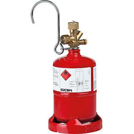 Bouteille en acier leger propane avec valve de bouteilles a gaz et pied. Petite bouteille 0,5 kg (Vide)