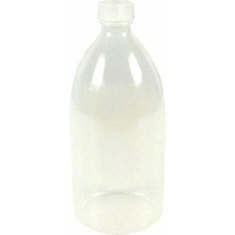 Bouteille en plastique avec raccord filete contenu 1000 ml