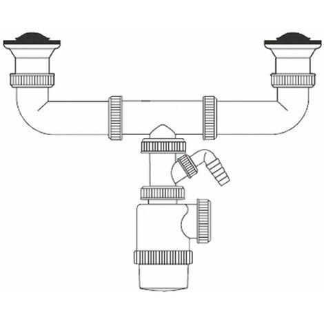 BOUTEILLE EXTENSIBLE DOUBLE SIPHON V70 AVEC SIP LAVE-VAISSELLE