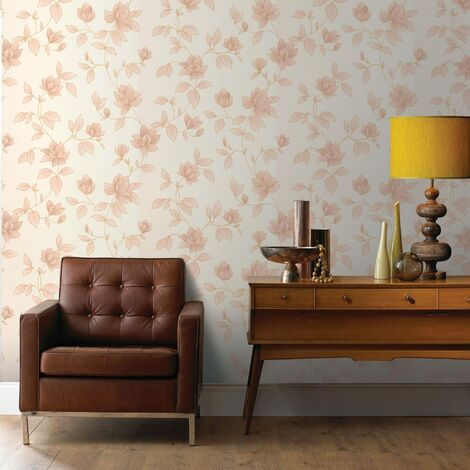 Boutique Amy Textured Floral Gold Wallpaper (Was £23)