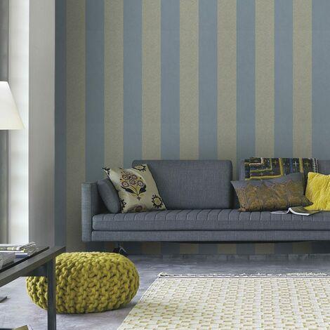 Boutique Artisan Stripe Textured Luxury Mulberry Wallpaper (Was £25)