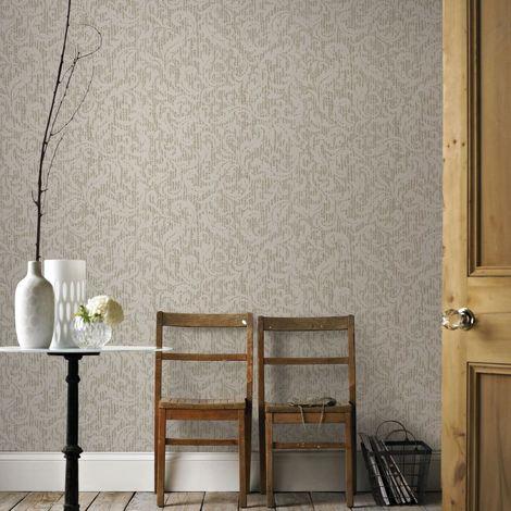 Boutique Cashmere Cream / Gold Metallic Luxury Wallpaper