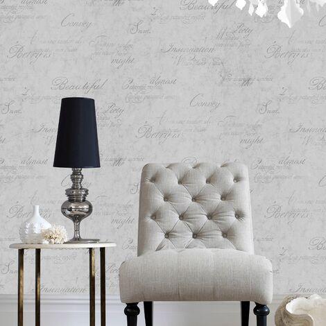 Boutique Concrete Script Concrete Textured Plain Wallpaper (Was £23)