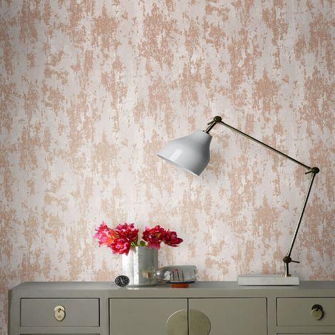 Boutique Copper Industrial Textured Plain Wallpaper (Was £20)
