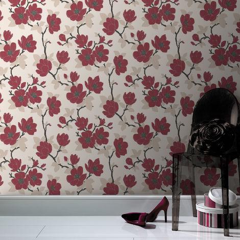 Boutique Elinor Red Wallpaper