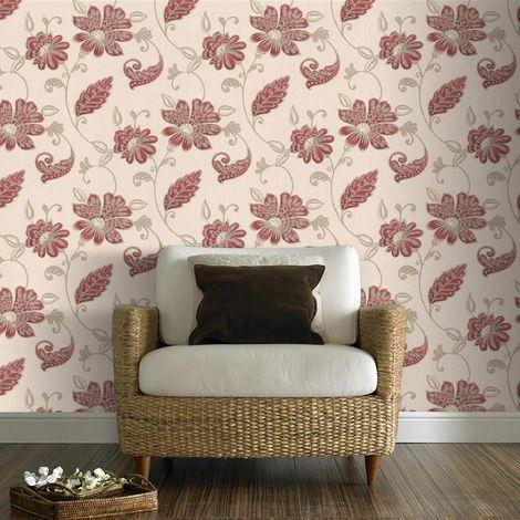 Boutique Juliet Red Wallpaper