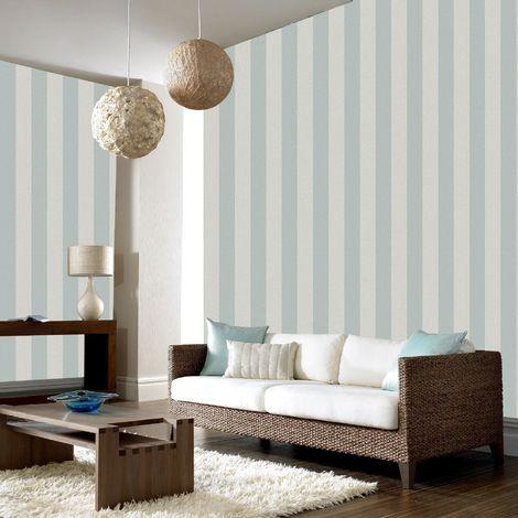 Boutique Light Silver / Silver Water Silk Stripe Wallpaper
